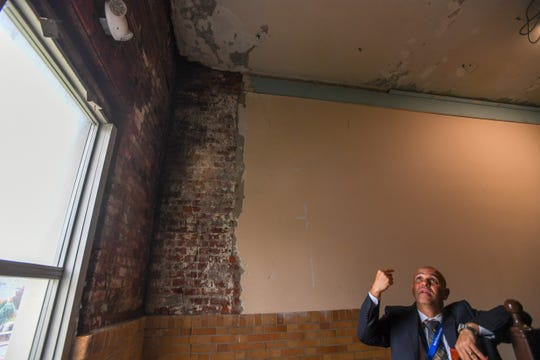 Palisades Park superintendent Dr. Joseph Cirillo at Lindbergh Elementary School on Tuesday, October 29, 2019. Cirillo stands in a section of the school where mold was found and removed.