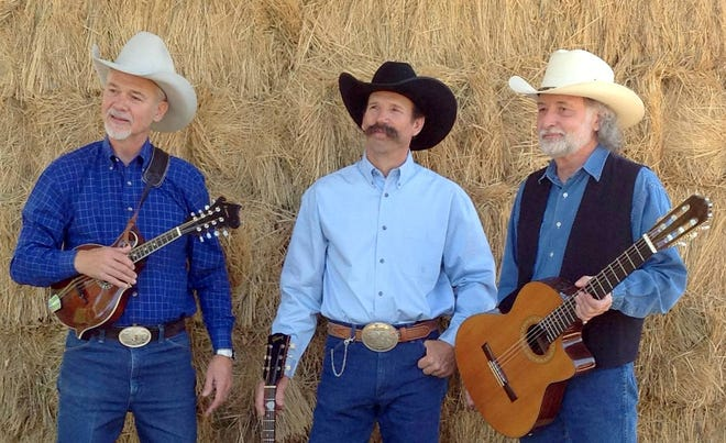 Pictured, from left, are Jim Jones, Doug Figgs and Mariam Funke; The Cowboy Way.