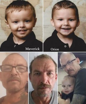 Las Cruces police report the Ransom brothers — Maverick and Orion — may be with their father, Clarence Michael Ransom.