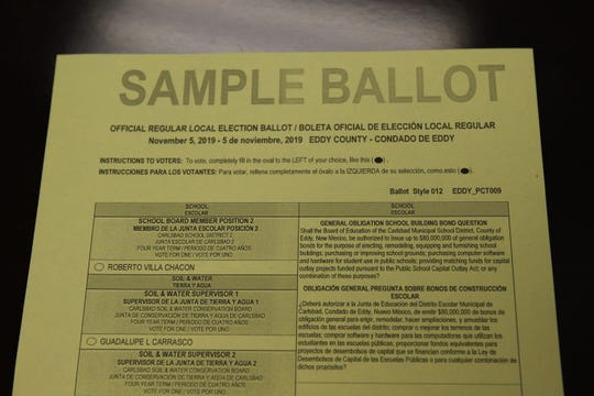A sample ballot shows Carlsbad residents what's at stake during the Nov. 5 Local Election.