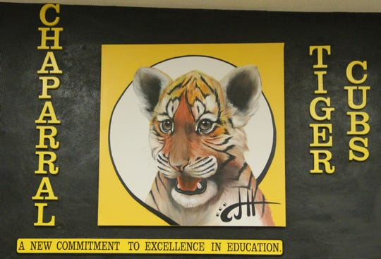 A mural inside Chaparral Middle School