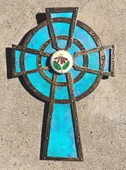 This cross by Lou Mancell will be featured at this weekend's 17th annual art sale and studio tour on Crouch Mesa.