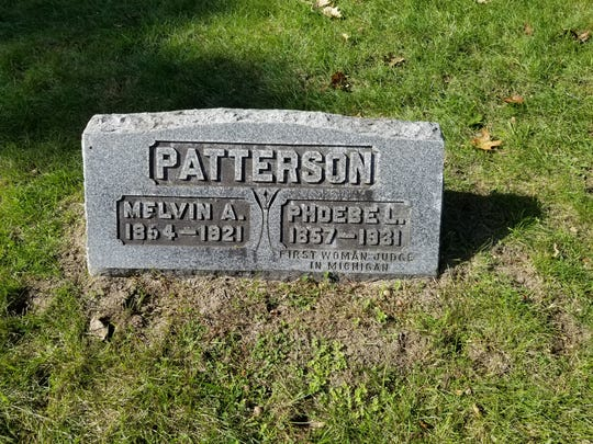 Phoebe Patterson, Michigan's first female judge, is buried in Riverside.