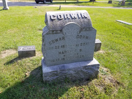 Edward Corwin, a famed author of legal books still referred to today, is buried in Riverside.