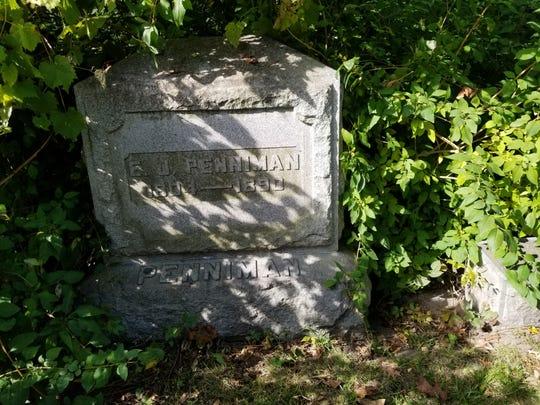Congressman Ebenezer Penniman's grave marker.