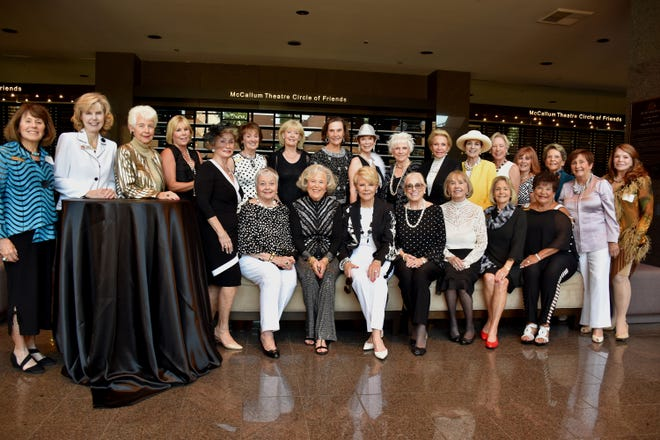 Board members of the Muses & Patroness Circle of McCallum Theatre gathered for a group photo in April 2019.