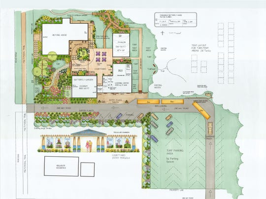 A conceptual drawing shows the potential Panhandle Butterfly House in Milton.