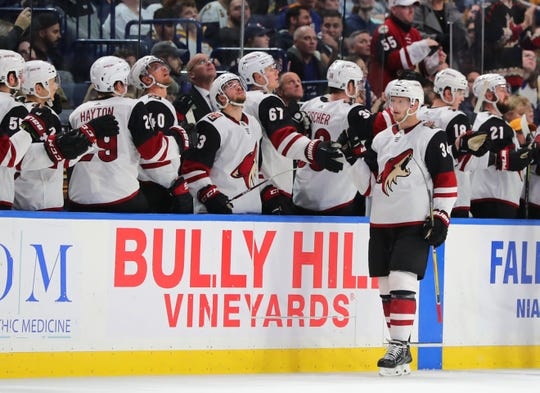 The Arizona Coyotes are moving up in the latest NHL power rankings.