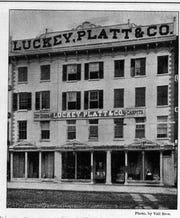 Luckey Platt had an eatery in the basement of the Poughkeepsie department store, shown here in 1889.