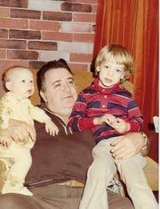 Ralph Guidetti is shown with his grandchildren: Jesse Frederick, left, and Jamie Frederick, circa 1979.