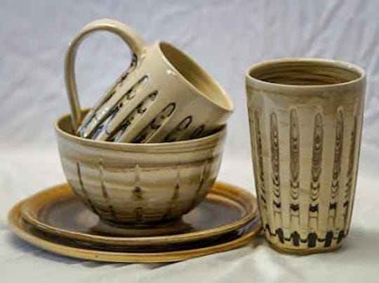Dutchess Handmade shop offers a variety of pottery, including handmade swirl ceramics by Nicole Jurain.
