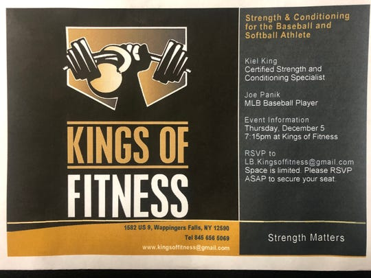 Joe Panik, a Major League Baseball player, will help host a discussion on strength and conditioning for kids at Kings of Fitness gym in Wappingers Falls on Dec. 5.