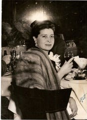 Rita Barone Beni, Lisa Beni's mother, is shown at one of her husband's restaurants in 1958.