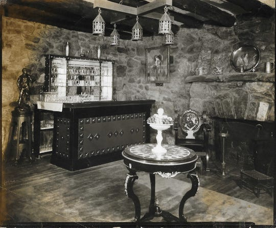 """A dining room at Guidetti's is shown in 1953. """"The painting of Greta Garbo was left by a patron of my great-grandfather's in New YorkCity during the 1920s who did not have the funds to pay his bill of fare,"""" said Jesse Frederick. """"The painting hangs in my mother's house now."""""""