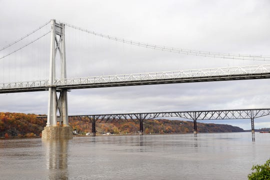 The Mid-Hudson Bridge and Walkway Over The Hudson on October 29, 2019.