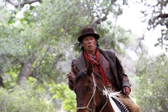 "Wes Studi is shown in a scene from the new film ""Badland,"" starring Kevin Makely."
