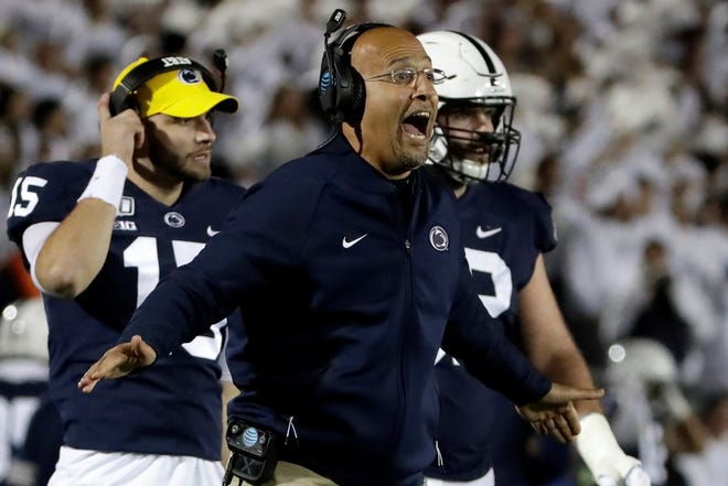 Penn State head football coach James Franklin