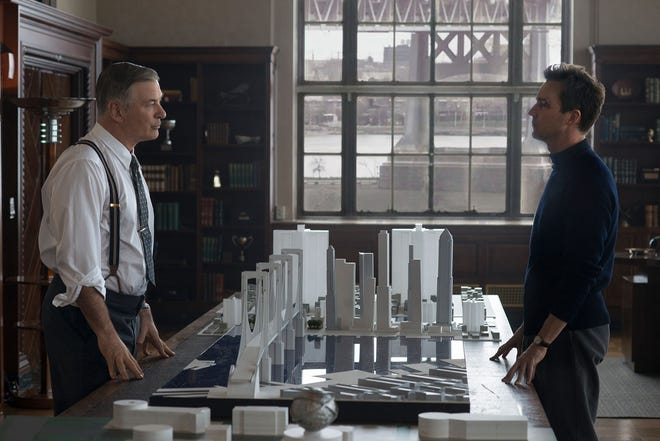 """Alec Baldwin and Edward Norton are seen in """"Motherless Brooklyn."""" Norton directed, wrote, produced and starred in the film. The movie is playing at Frank Theatres Queensgate Stadium 13 and R/C Hanover Movies."""
