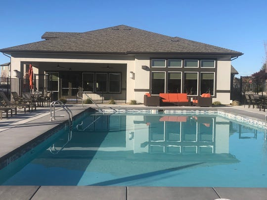 A pool ranks among the amenities at the new Steamboat by Vintage, a 360-unit affordable housing complex in South Reno now leasing to income-qualified families.