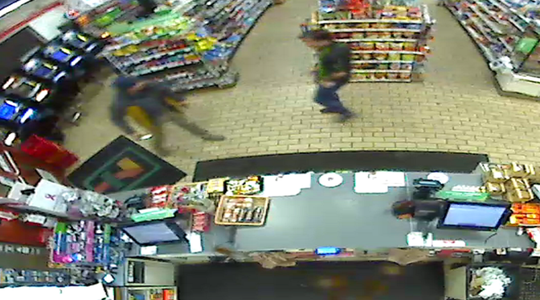 A photograph taken from a security video at a 7-Eleven convenience store in Sparks shows a man allegedly robbing the store and threatening the clerk. The robbery was reported on Sunday, Oct. 27, 2019.