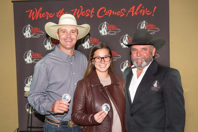 California Rodeo Salinas Directors Braden Hoover, Ashley Baker and President Dave Pedrazzi.