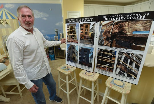 Roger Williams, president of the ownership association at Sunset Island Condominiums in Ocean City, Maryland talks about water damage/construction issues that they have had with the complex on Aug. 29, 2019.