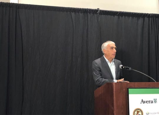 """David Sheff speaks about how his son Nic overcame addiction at Avera's """"Faces of Addiction: Hope and Healing"""" conference on Oct. 29, 2019."""