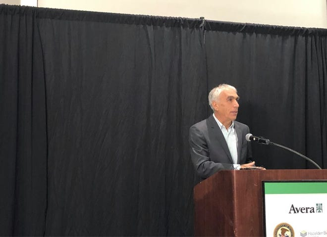 "David Sheff speaks about how his son Nic overcame addiction at Avera's ""Faces of Addiction: Hope and Healing"" conference on Oct. 29, 2019."