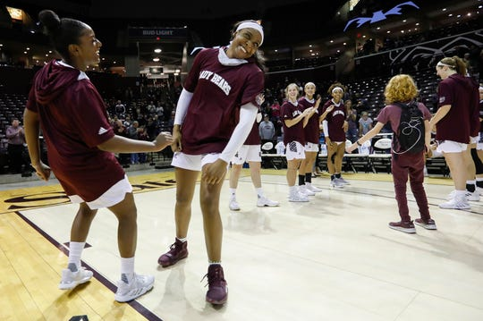 The Missouri State Lady Bears took on Lincoln in an exhibition game at JQH Arena on Monday, Oct. 28, 2019.