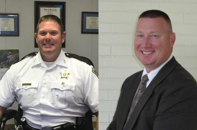 Donald Smith (left) and Neil Kester are both vying for Augusta County Sheriff in the Nov. 5 election. Smith is the current sheriff, elected in 2016.