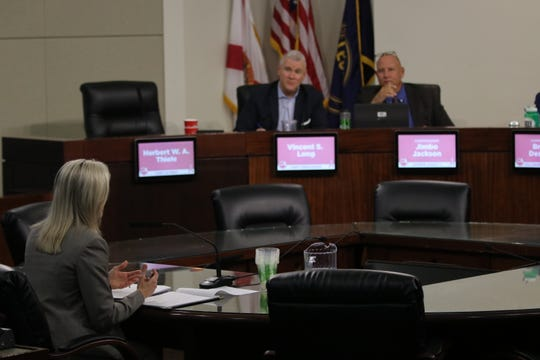 Chasity O'Steen fields questions from the Leon County Commission before being selected as the next county attorney.