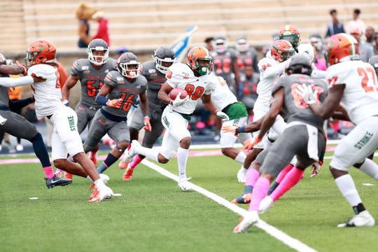 FAMU wide receiver Marcus Williams returns a kickoff versus Morgan State on Saturday, Oct. 26, 2019 at Hughes Memorial Stadium in Baltimore.