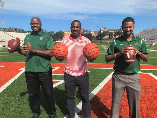 FAMU men's basketball head coach Robert McCullum, football head coach Willie Simmons and women's basketball head coach Kevin Lynum are well-versed in their sport and others. They share a common bond and level of support for each other.