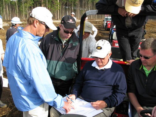Jack Nicklaus and members of his Nicklaus Design team in Tokyo.