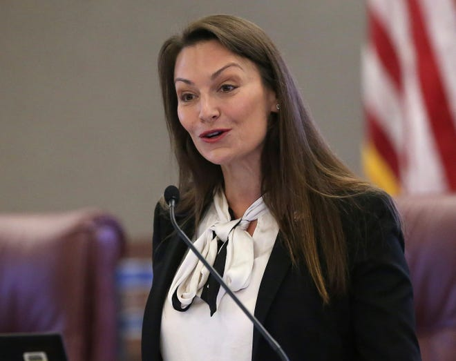 Florida Agriculture Commissioner Nikki Fried speaks at a pre-legislative news conference on Oct. 29, 2019. in Tallahassee. Gov. Ron DeSantis wants the state to set up a system that will require employers to verify immigration status of job applicants. But it's unclear if that effort will get any traction among lawmakers, especially since a similar effort failed during the 2019 legislative session.