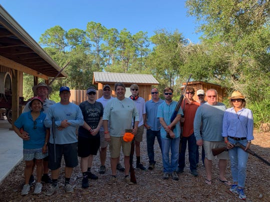 2019 Clays for Kids participants, from left, Alicia Stover, Art Stover, Matt Price, Tylor Melton, John Reddick Sr., Eugene Caiazzo, John Reddick Jr., Mark Howe, Kenneth Desplaines, Andrew Desplaines, Tom Thompson, Dave Kenny and Amy Kenny.