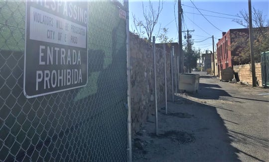 New poles for a fence in the alley behind Duranguito were added Tuesday by the city. The city said it is to increase security  and reduce trespassing.