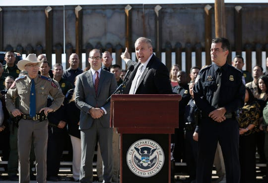 Acting Customs and Border Protection Commissioner Mark A. Morgan held a press conference Tuesday, October, 29, 2019 in El Paso, Texas to deliver fiscal year 2019 immigration and drug seizure numbers.