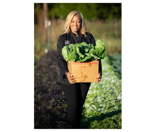 Dawn Hilton Williams is the owner and operator of Herban Eats pictured at Maranatha Farms in Greenville.