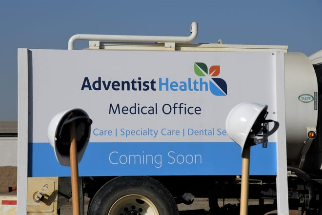 Adventist Health broke ground on its medical clinic in Tulare on Monday, Oct. 28.