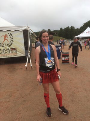 Meridith Wentz, after completing the Wausau Half Marathon in 2018.