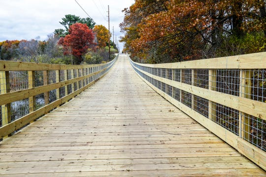 Photo of the Old Highway 51 Pedestrian Path Thursday, Oct. 24, 2019, in Kronenwetter, Wis. T'xer Zhon Kha/USA TODAY NETWORK-Wisconsin