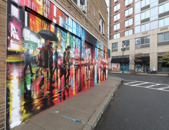 A mural painted by Dan Kitchener, at 38 Division Street in New Rochelle Oct. 29, 2019.  On Nov. 2, 2019, there will be an Art Walk through the streets of New Rochelle for the premiere of the NRNY Artsy Murals. The art and the  walk were curated by Street Art for Mankind.