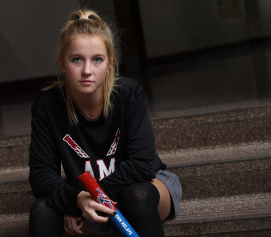 Alberus Magnus's Daly Dedyo, a figure skater, field hockey player and school record-holding runner, is a Journal News/lohud Rockland Scholar-Athlete. Dedyo was photographed at Alberus Magnus High School on Oct. 25, 2019.