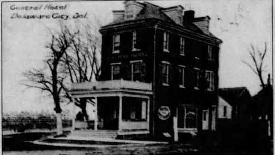 The Central Hotel pictured in 1918. The now former hotel is said to be haunted. It serves as the American Birding Association's headquarters.