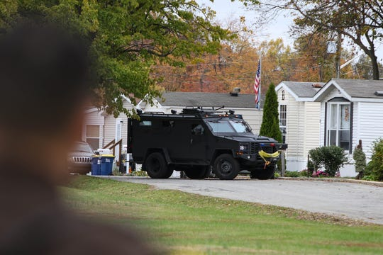 Police closed off a development in Brandywine Hundred on Tuesday morning. Faced with eviction from his home, a man shot himself to death.
