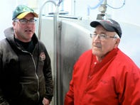 .Bob and Wally Behnke are proud of the new dairy facility.