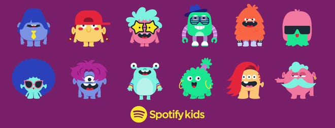 Kids can choose an avatar inside Spotify Kids.