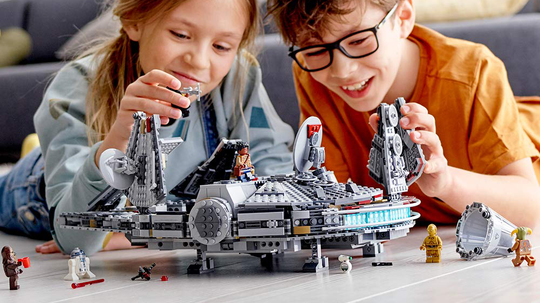 Building with Legos is a fun activity for the whole family.
