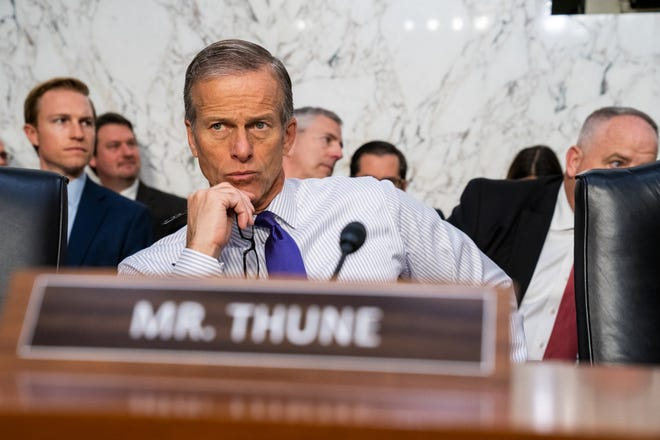 Sen. John Thune made it clear that Republicans will push forward with filling the Supreme Court vacancy.